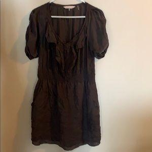 Silk grey tunic style dress